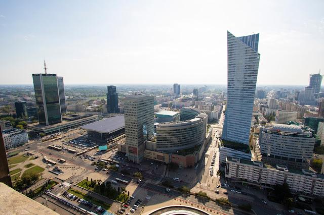 Panorama dal Palazzo della Cultura e della Scienza-Varsavia