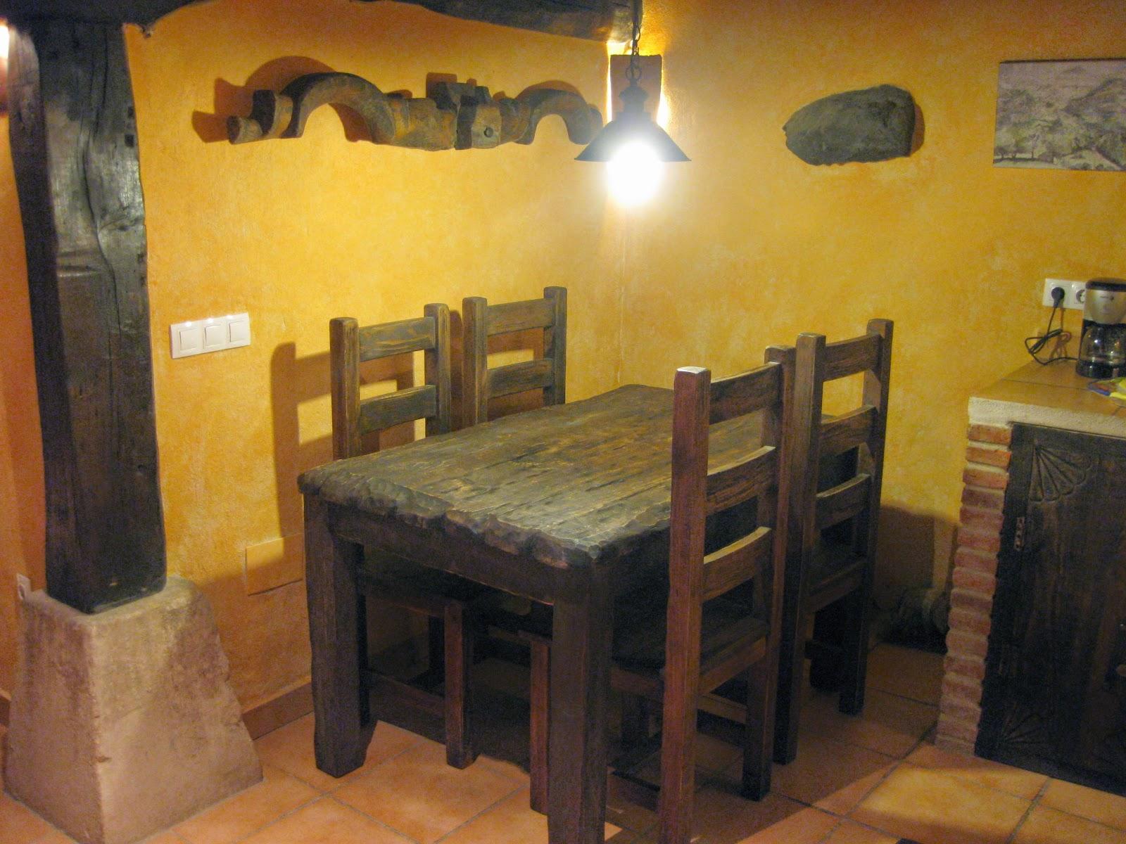 Artesan a r stica en madera mesas y sillas rusticas para for Mesas para bar rusticas