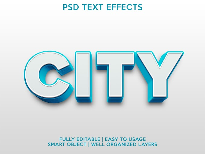 City Text Effect PSD