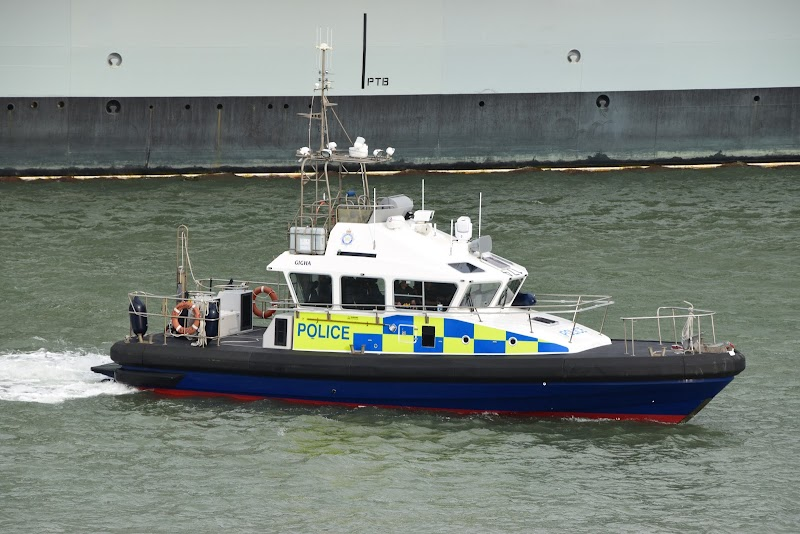 Port Police in the Solent near Portsmouth