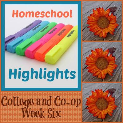 Homeschool Highlights - College and Co-op Week Six on Homeschool Coffee Break @ kympossibleblog.blogspot.com