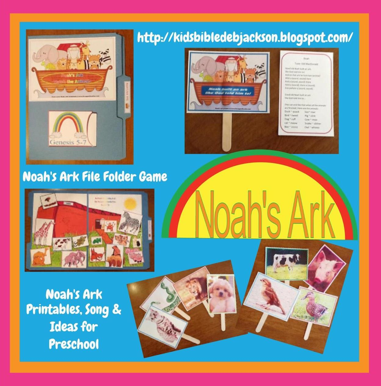Bible Fun For Kids Noah Preschool Projects