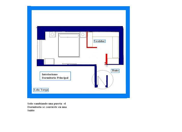 dormitorio planta de distribucion vestidor ww.lolatorgadecoracion.es