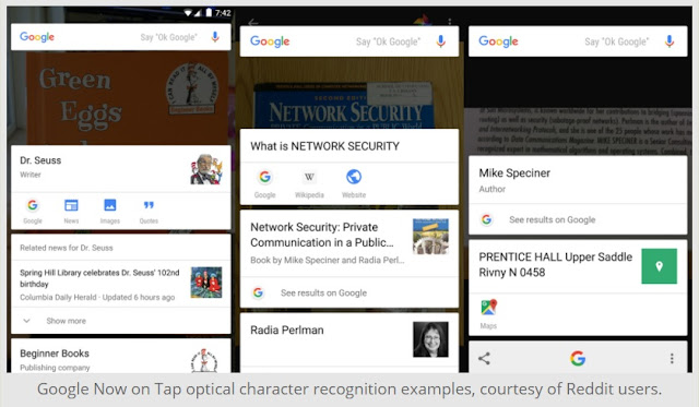 Google Added Optical Character Recognition(OCR) Feature To Google Now On Tap : Get Update