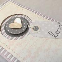 ładna pastelowa  kartka ślubna ręcznie robiona