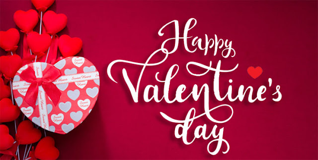 Valentine's Day red heart and heart gift ribbon Image