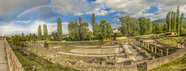 Heraclea Lyncestis - archaeological site near Bitola, Macedonia - panorama