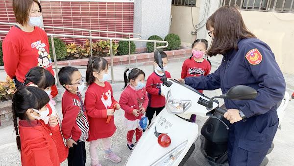 寓教於樂 幼兒園小朋友參訪北斗警分局埤頭分駐所