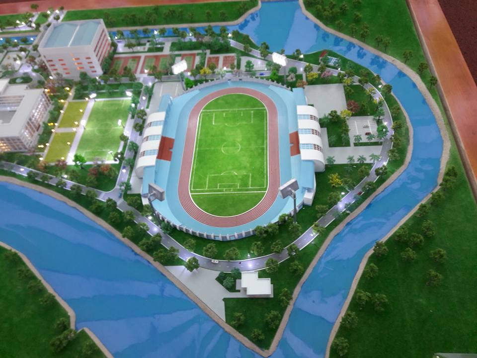 Phối cảnh sân vận động trung tâm trường ĐH Sư phạm Thể dục Thể thao TP.HCM
