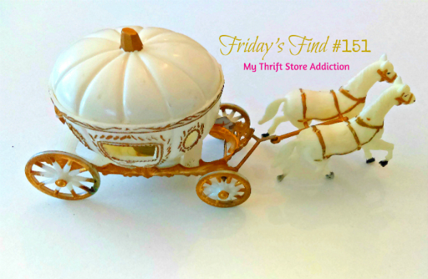 Vintage Cinderella's pumpkin carriage cake topper