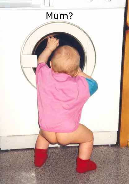 Funny Baby Picture - Mum?
