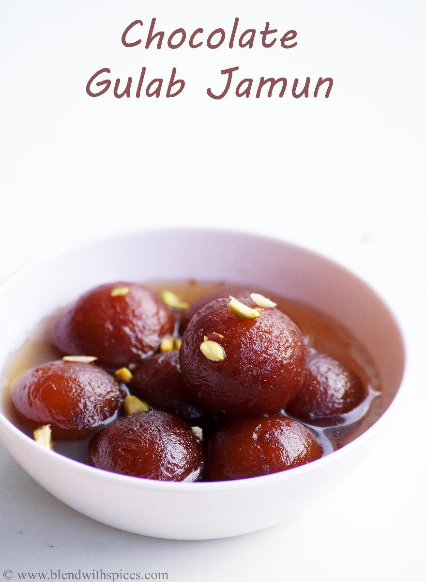 Chocolate Stuffed Gulab Jamun Recipe - How to make Chocolate Gulab ...