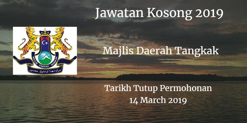 Jawatan Kosong MDTangkak 14 March 2019