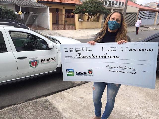 Nota Paraná já distribuiu mais de R$ 246 milhões em prêmios aos consumidores
