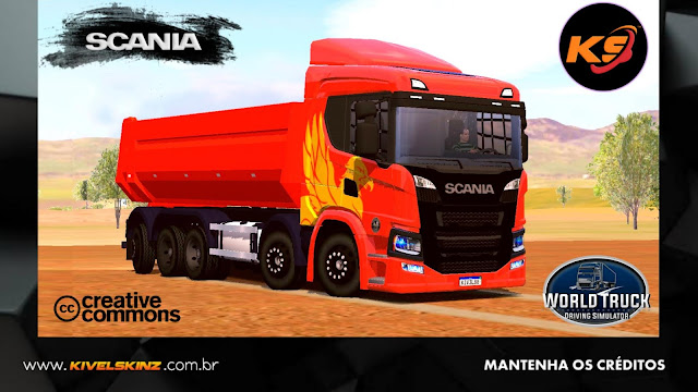 SCANIA P320 CAÇAMBA - THE FLYING GRIFFIN ORANGE