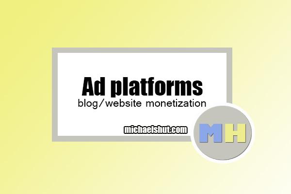 list of ad platforms by michaelshut