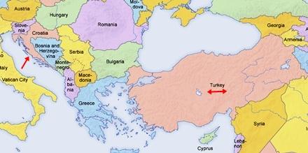 Hırvatistan Haritalarda Neresi