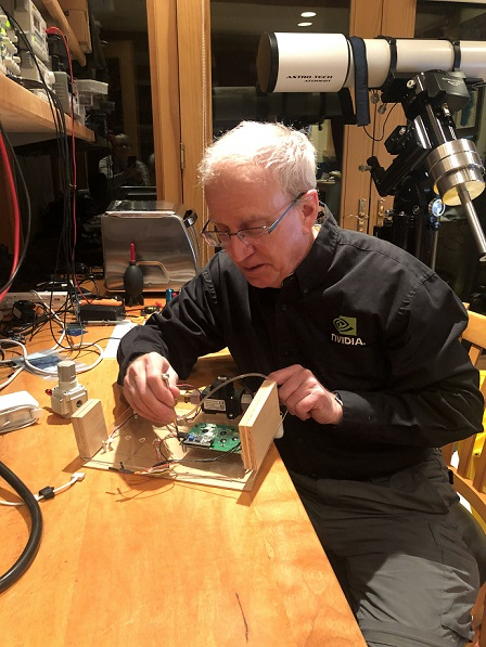 NVIDIA Chief Scientist Bill Dally built the first prototypes of his design in his home workshop.