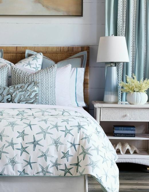 Blue Starfish Pattern Bedding