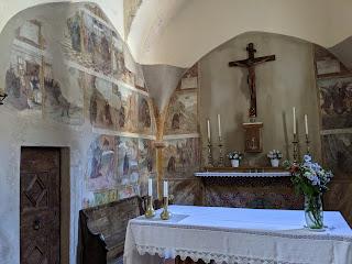 Inside the Oratorio di Sant'Antonio Abate alla Torre - Valtorta.