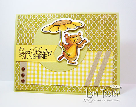 Good Morning Sunshine card-designed by Lori Tecler-Inking Aloud