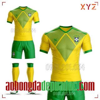 Shop In Áo Bóng Đá Đẹp Nhất Đội Tuyển Brazil 2020