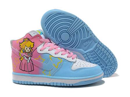 nike super mario Princess Peach shoes For girls pink blue 2343f84e6