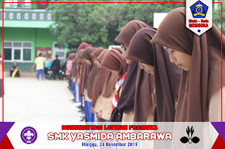 Latihan mingguan pramuka SMK Yasmida Ambarawa