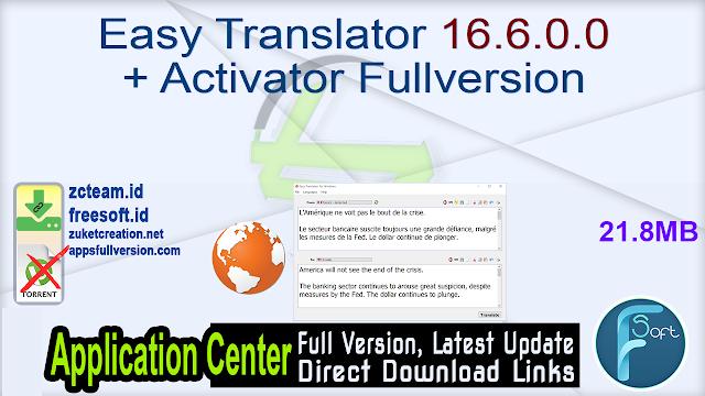 Easy Translator 16.6.0.0 + Activator Fullversion