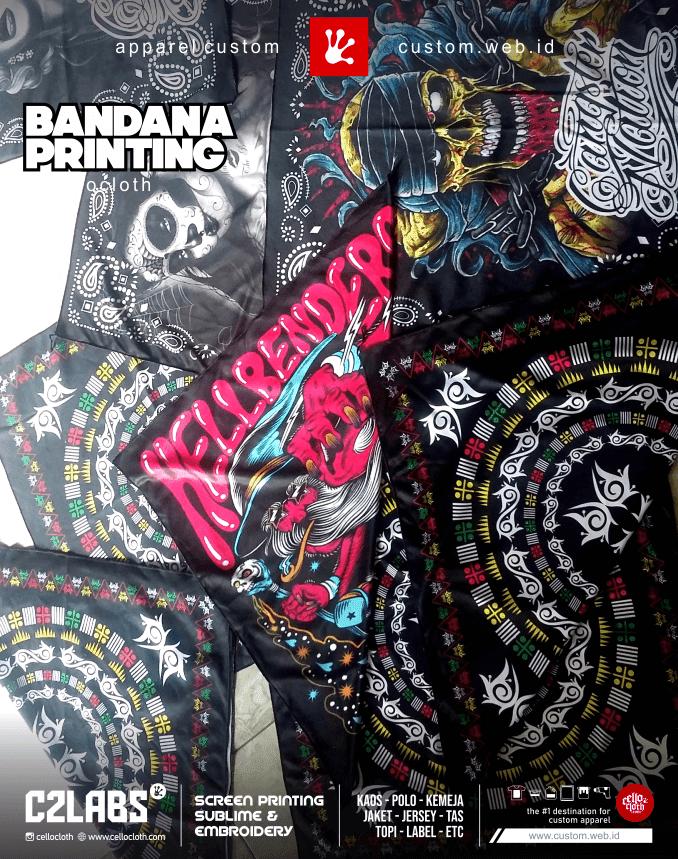 Bandana Printing Custom desain Suka Suka Tanpa Batasan Warna - Jogja Custom