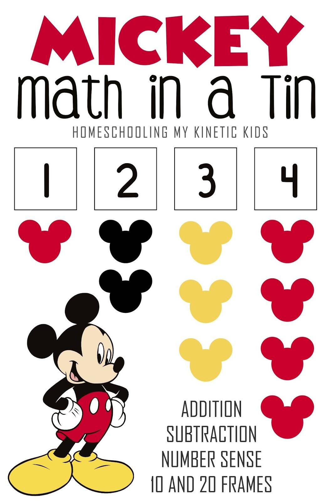 Mickey Math In A Tin