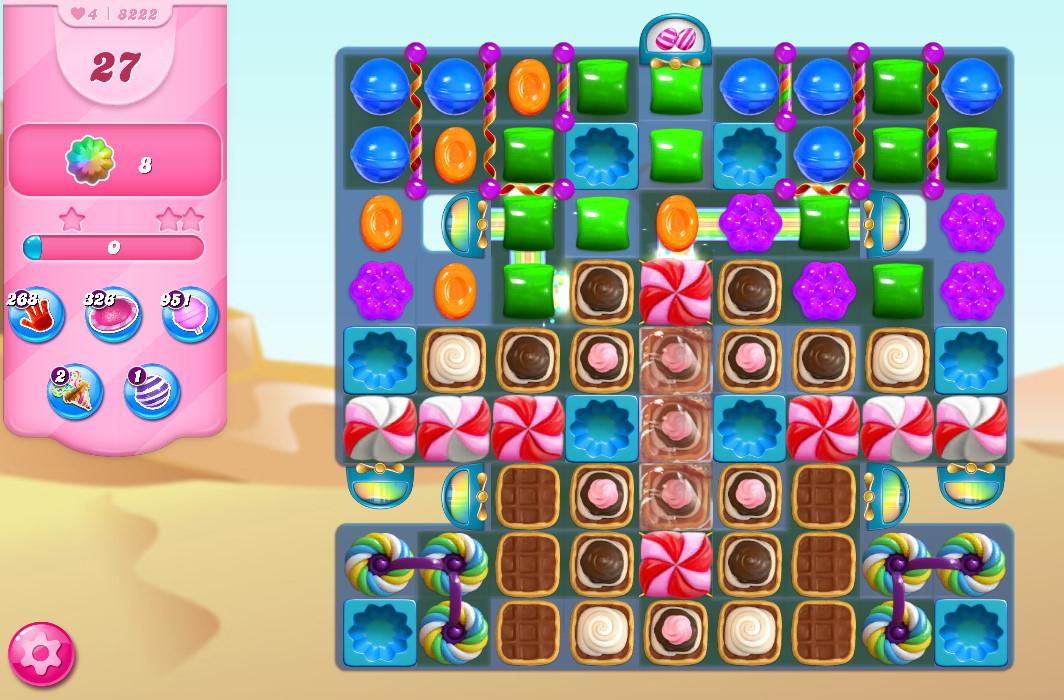 Candy Crush Saga level 8222