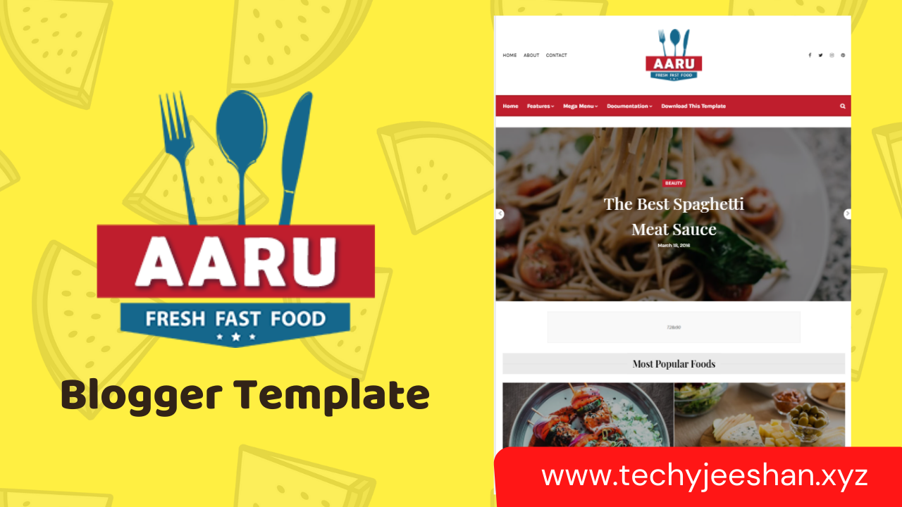 Aaru Blogger Template | Aaru Premium Blogger Theme Free Download
