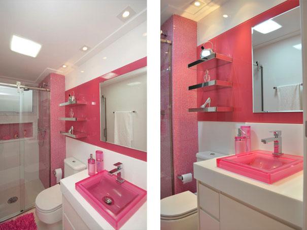 Construindo Minha Casa Clean Duvida da Leitora  Dicas de Pisos Amadeirados  -> Banheiro Feminino Moderno