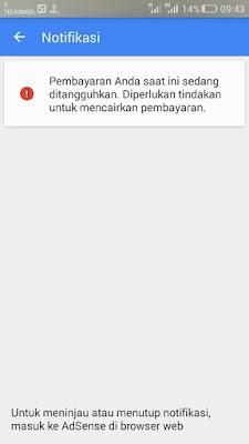 notifikasi adsense