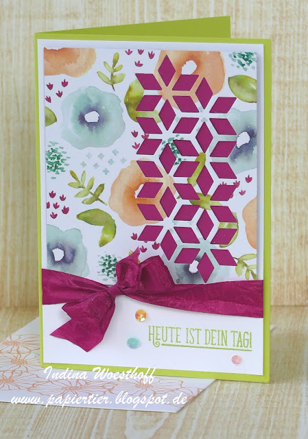 Bunte Vielfalt | papiertier Indina | Stampin' Up! | Geburtstagskarte