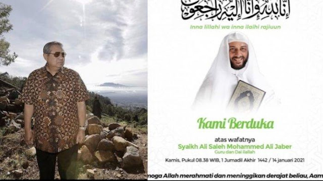 Ucapan Dukacita SBY untuk Syekh Ali Jaber: Almarhum Ulama yang Teduh
