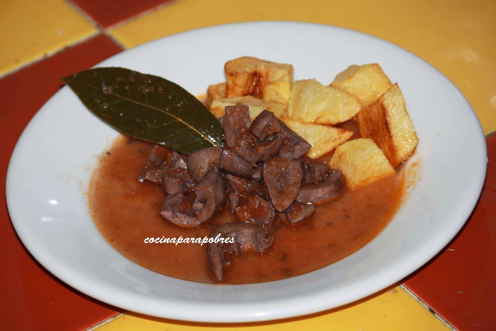 Riñones en salsa