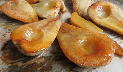 Roasted Pears with Honey, Cinnamon & Cardamom