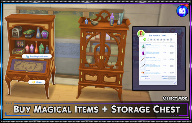 Buy Magical Items + Storage