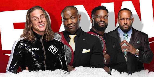 Live broadcast of WWE Raw January 25, 2021