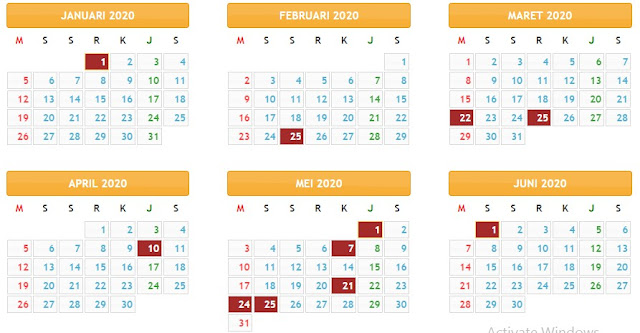 Kalender Pendidikan SD, SMP, SMA, dan SMK Tahun Pelajaran 2019/ 2020. www.kemendikbud.co.id