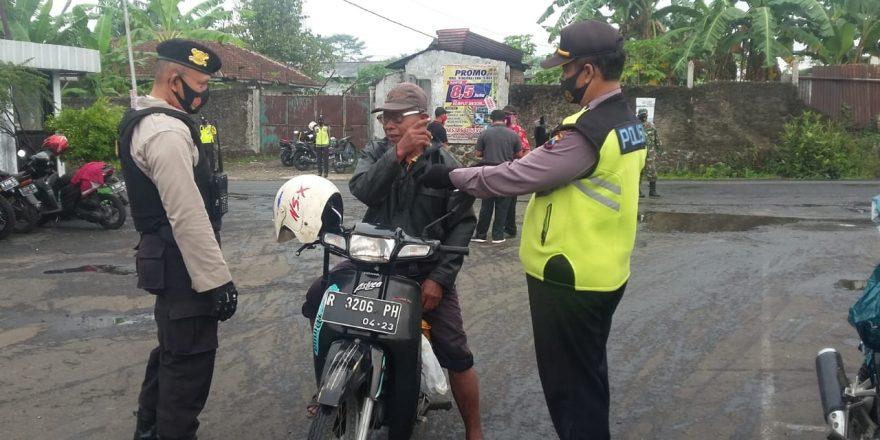 Puluhan Karyawan Pabrik Terjaring Razia Patuh Masker di Purbalingga