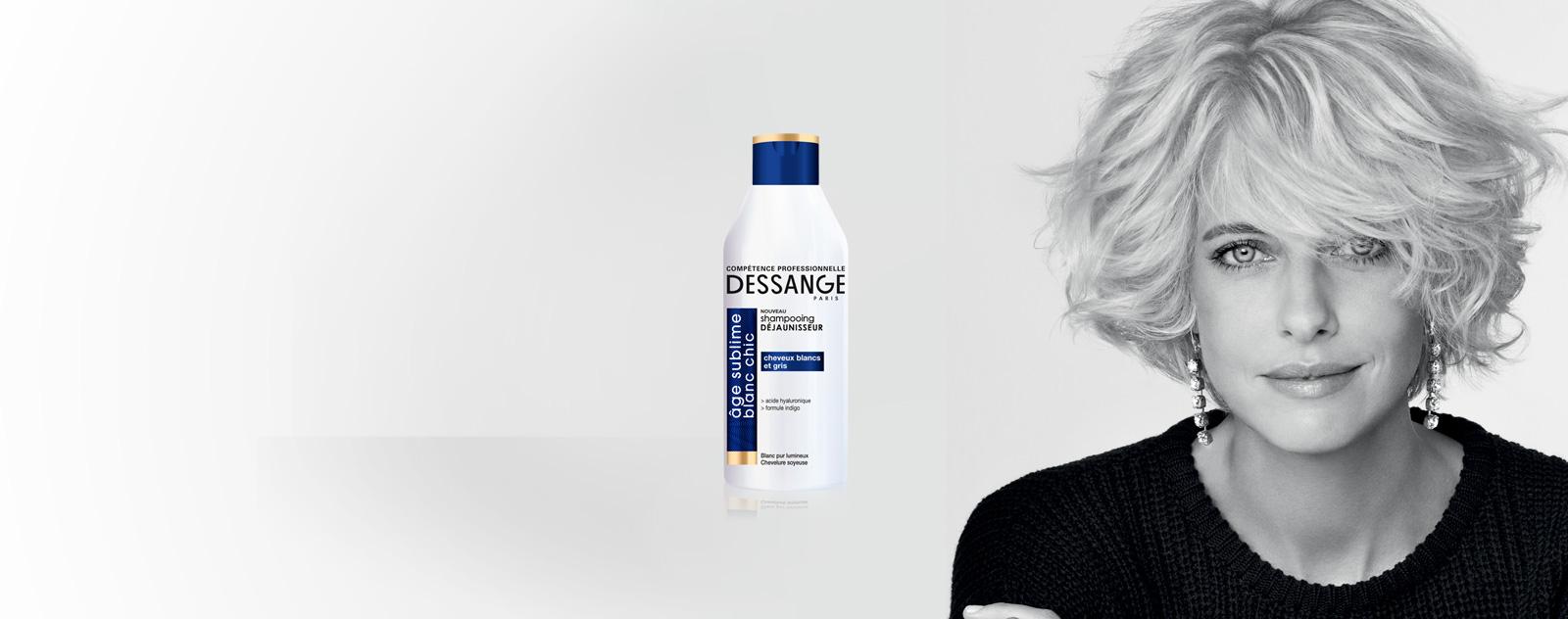 Shampoing pour cheveux gris dessange