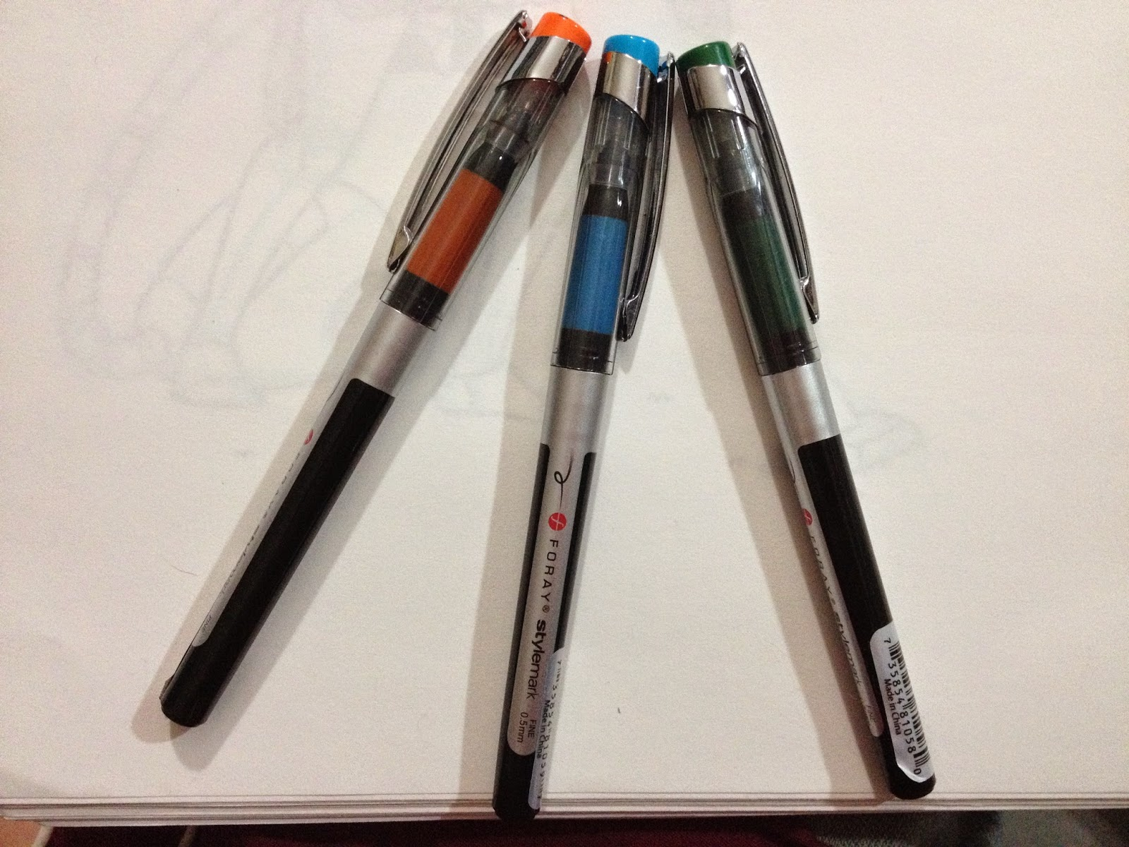 My Office Depot Had Three Colors Of Foray Stylemark Fineliners Left So I Bought One Each