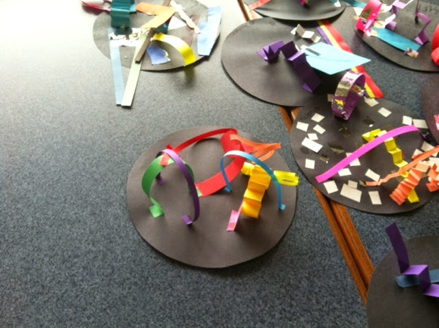3D art sculptures first grade Dot Day Projects Peter Reynolds