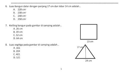 Soal UAS Kurikulum 2013 Kelas 4 Semester 1
