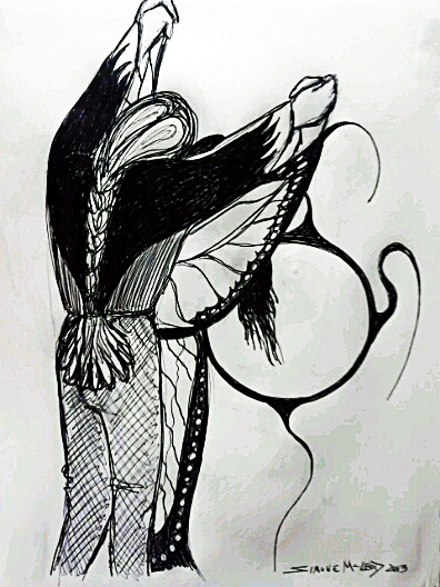 Drawing by Ojibwe artist Simone Mcleod (2013)