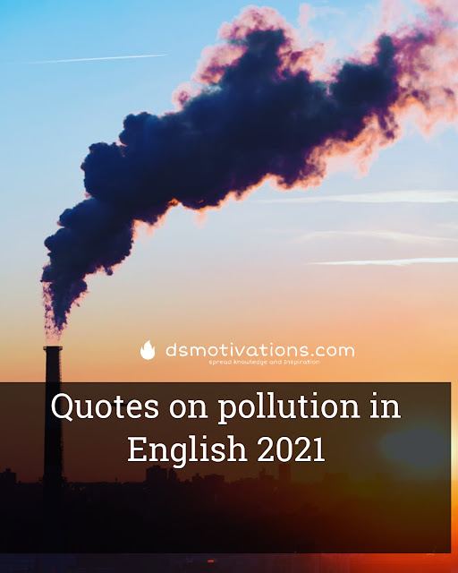 Quotes on pollution in English 2021
