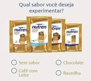 Cadastrar Promoção Nutren Senior Experimente Grátis